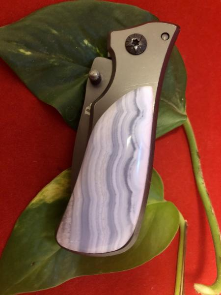 Small Tactical with INDIA LACE AGATE HANDLE