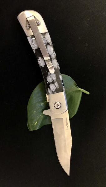 UTAH SNOWFLAKE OBSIDIAN Knife Handle