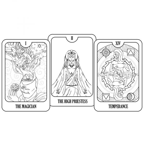 Magical Light & Dark Coloring Page Set picture