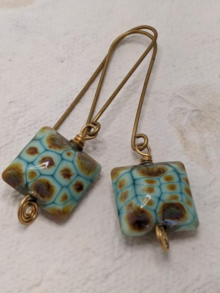 Turquoise Ikat | Brass