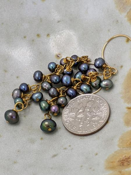 Peacock Pearl Tassels | Gold picture