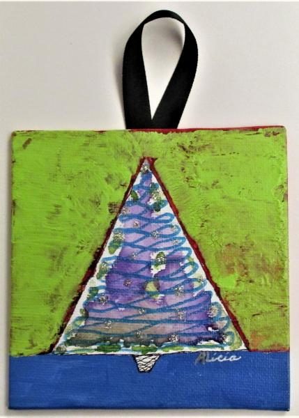 X-mas Tree Swirl mini canvas