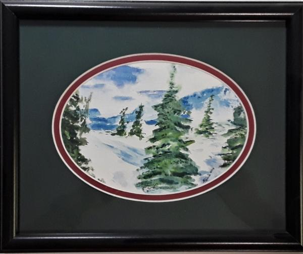 Winter Scene Oval
