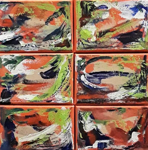 """Mixture"" abstract mini canvas group"