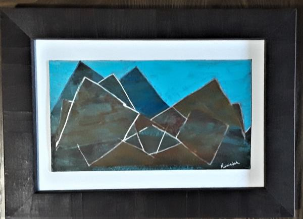 Peaks and Valleys acrylic painting