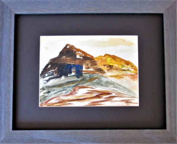 Desert Butte watercolor
