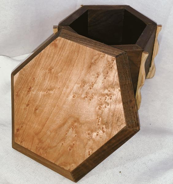 Unique Footed Hexagon Box