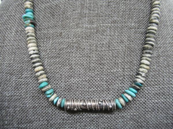 Silver Tube Bead Necklace