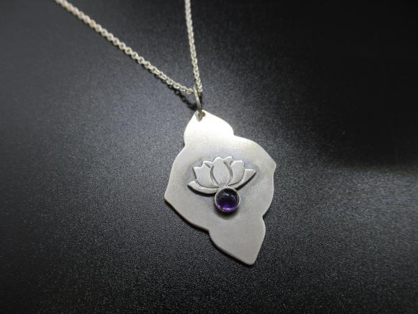 Amethyst Lotus Necklace