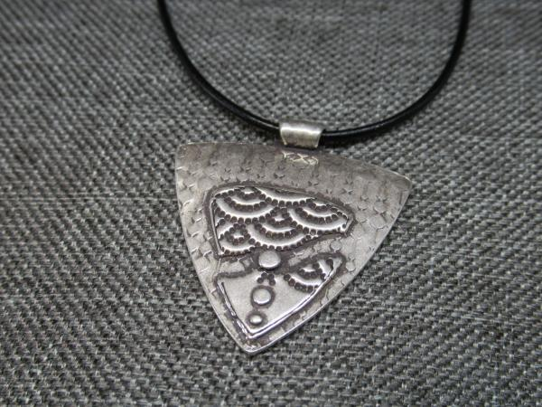 Textured Shield Necklace