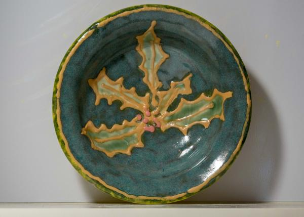 Textured Holly Candy Dish