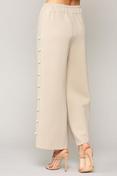Pear Trim Pants, Beige