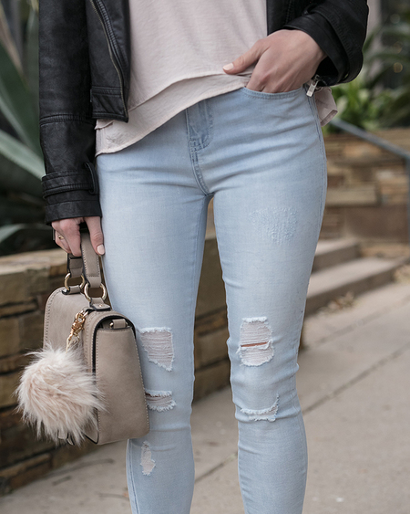 Soft Stretch Cropped Denim Jeggings