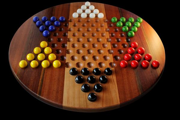 "20"" Super Deluxe Chinese Checkers"