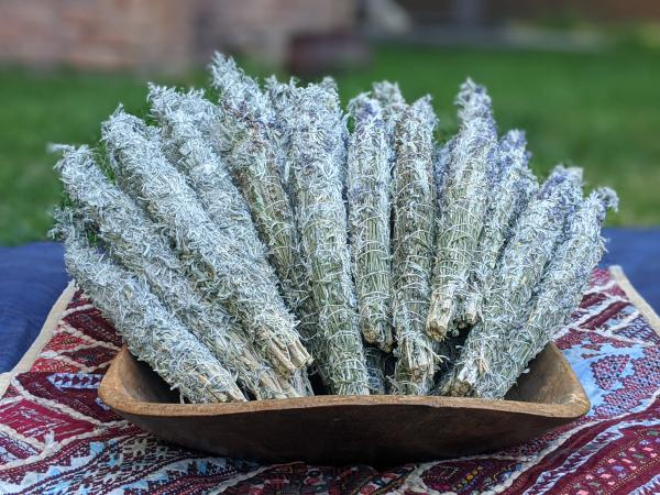 Sage and Sage/Lavender Smudges