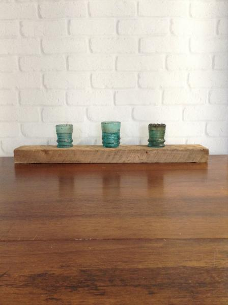 1800s Barnwood and InsulatorTealight Holder