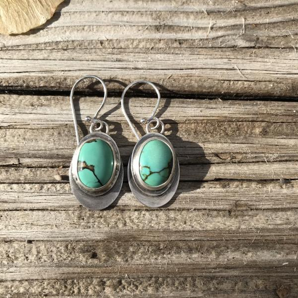 Soft Green Turquoise Earrings