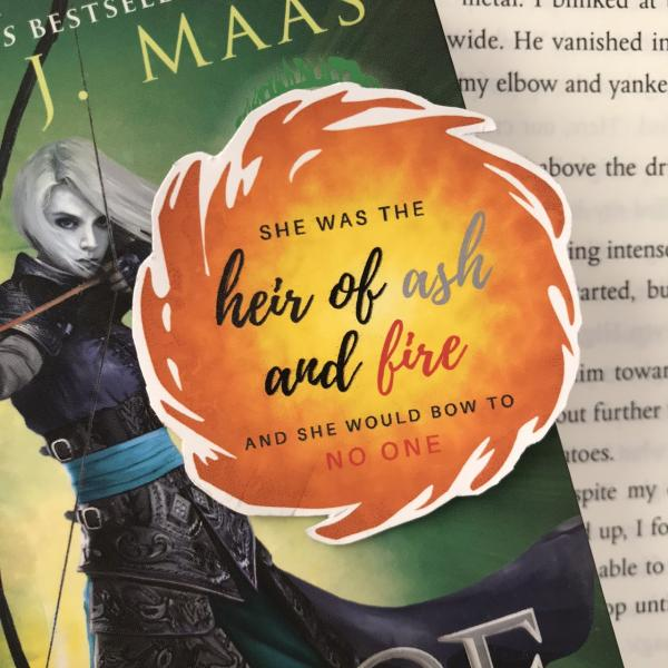 Throne of Glass Heir of Fire Sticker for planners, sketchbooks, bullet journals and more!