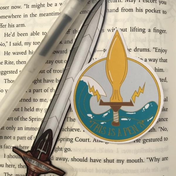 Percy Jackson This Is A Pen Sticker for planners, sketchbooks, laptops and more!