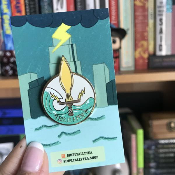 "Percy Jackson ""This is a Pen"" Enamel Pin"