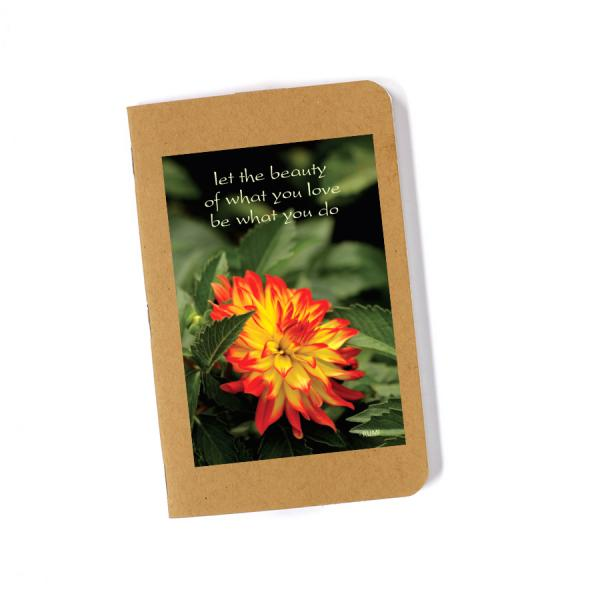 Recycled Journal - Red Dahlia