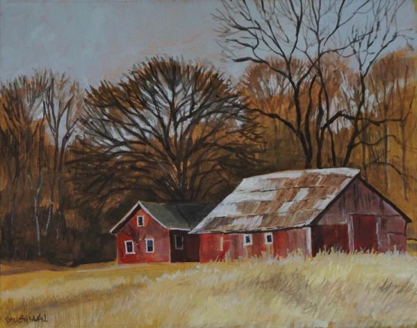 Red Barns near Cantril