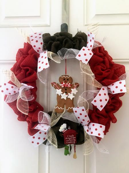 Chef Gingerbread Wreath