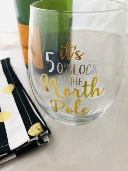 Holiday | Wine Glassware | It's 5 o'clock at the North Pole picture