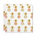 Pineapple Beverage Napkins (20 ct), Cocktail Napkins with Gold Foil