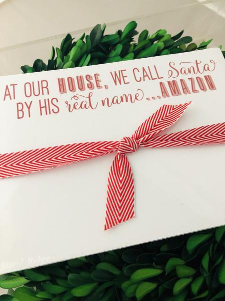Holiday | Slab Notepad | At Our House We Call Santa