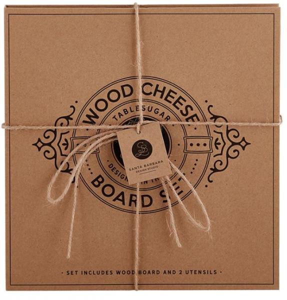 Gourmet Wood Cheese Board Set