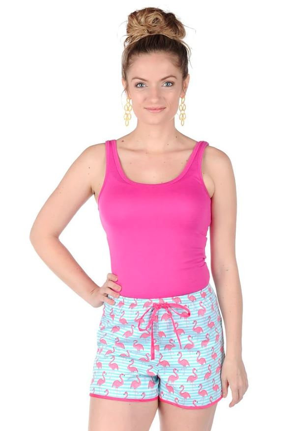 Pink Flamingo Short