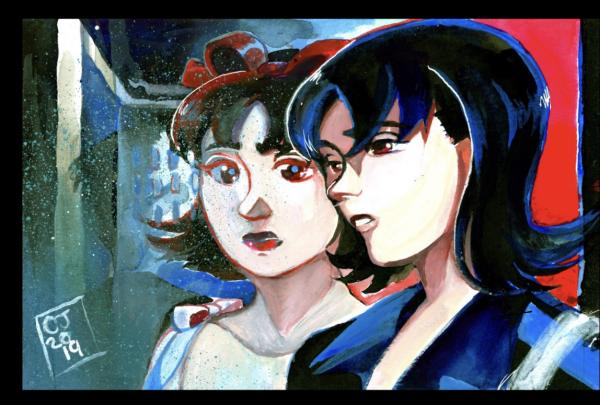 Perfect Blue painting ( Original  )