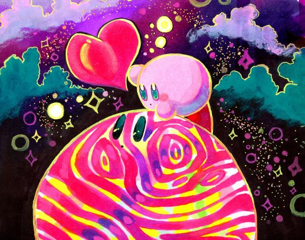 Holographic Kirby Star Allies Print