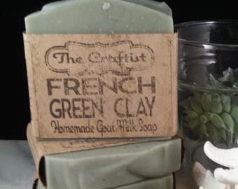 French Green Clay Handmade Goat Milk Soap