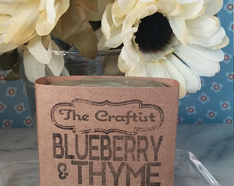 Blueberry and Thyme Handmade Goat Milk Soap