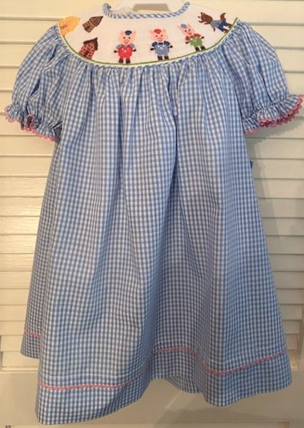 Three Little Pigs Smocked Dress Size 24M
