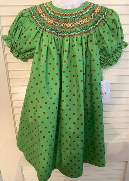 Green with Red Polka Dots 3T