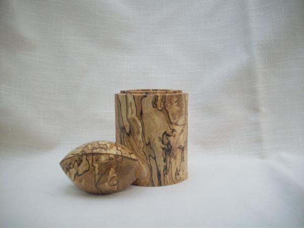 oval lidded box- spalted maple