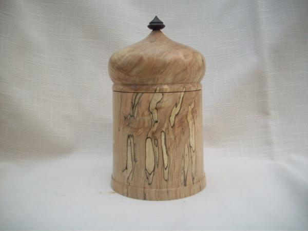 lidded box- spalted maple picture