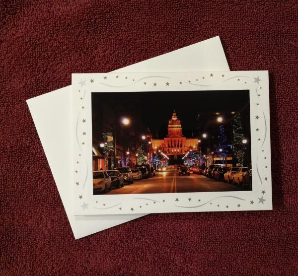 'State Capitol Christmas' - notecard