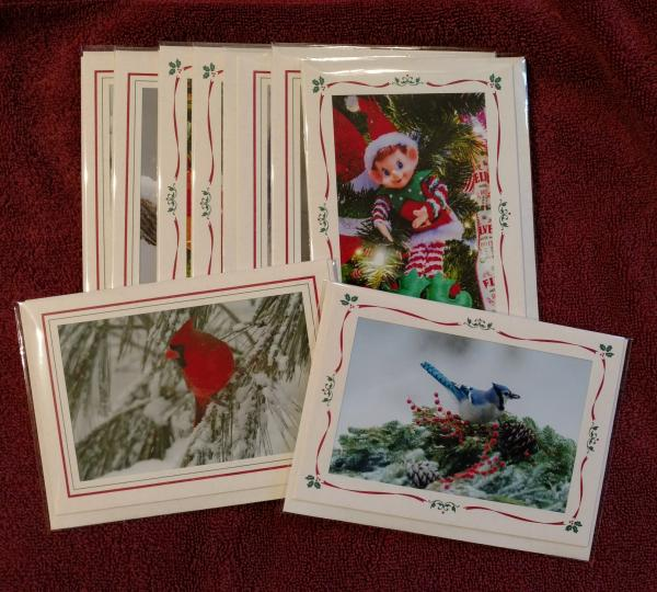 'Christmas - Whimsical and Nature Mix' - set of 9 cards