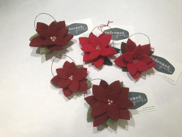 Red Poinsettia Ornament