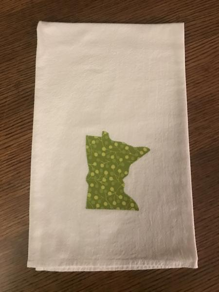 Minnesota Dish Towel - Green Branches