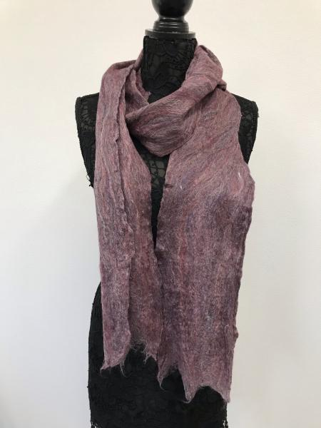 Cobweb Scarf, Red Multi; Merino Wool/Silk blend