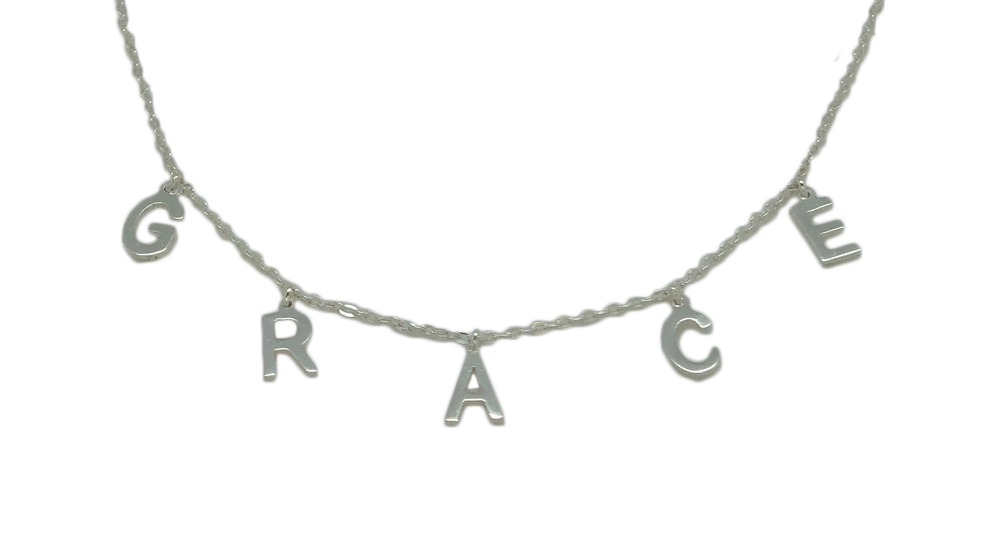 Dangle Drop Nameplate Necklace picture