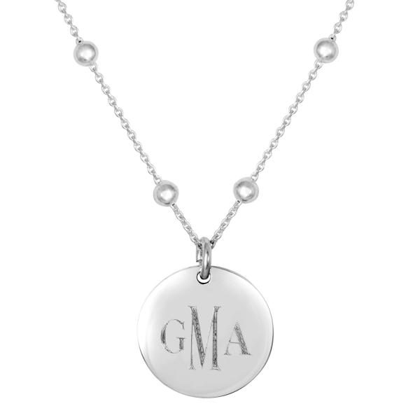 Monogrammed Linwood Beaded Necklace picture