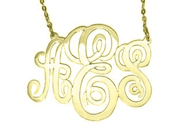Monogrammed Willow Cut Out Necklace