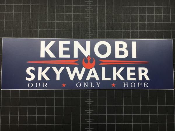 Kenobi-Skywalker printed decal