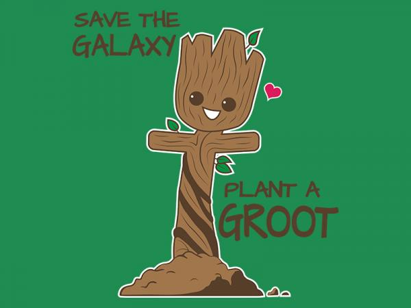 Save the Galaxy, Plant a Groot / Marvel Guardians inspired t-shirt